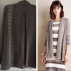 Anthropologie gray cardigan by Knitted and Knotted